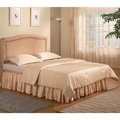 Beige Fabric Queen Size Headboard