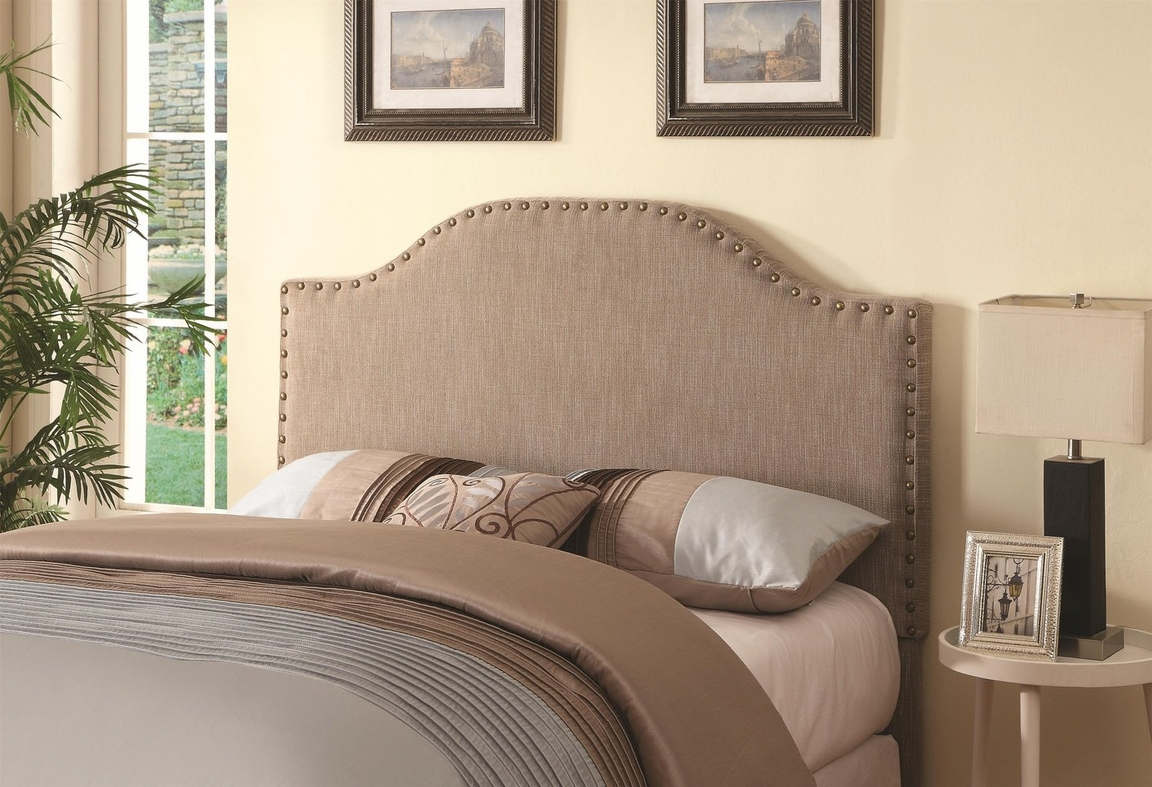 beige fabric queen size headboard steal a sofa furniture outlet los angeles ca. Black Bedroom Furniture Sets. Home Design Ideas