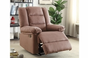 Beige Fabric Reclining Chair
