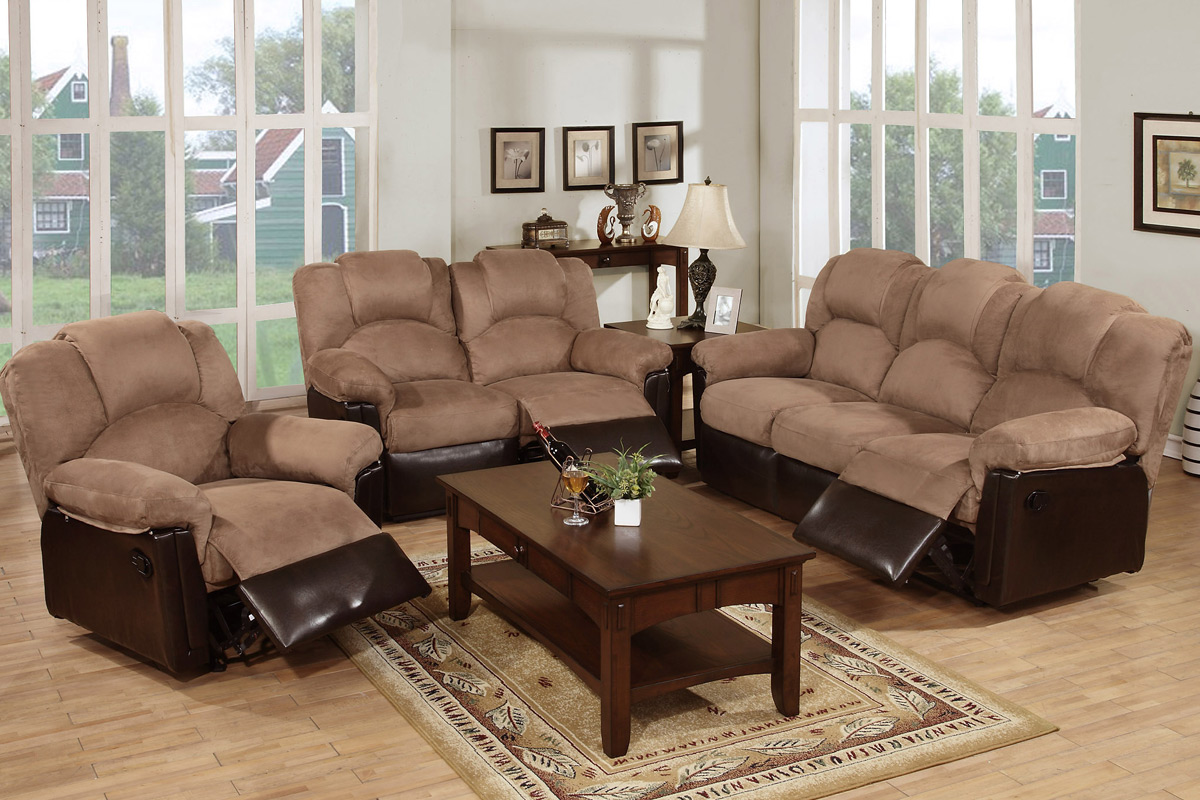 Greatest Beige Fabric Reclining Sofa - Steal-A-Sofa Furniture Outlet Los  KS13