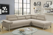 Beige Fabric Sectional Sofa