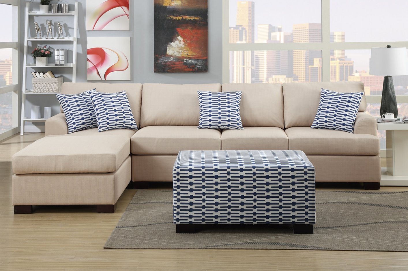 Camille Beige Fabric Sofa Steal A Sofa Furniture Outlet
