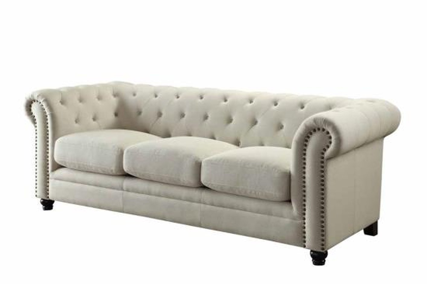 Coaster Roy 504554 Beige Fabric Sofa Steal A Sofa Furniture Outlet Los Angeles Ca