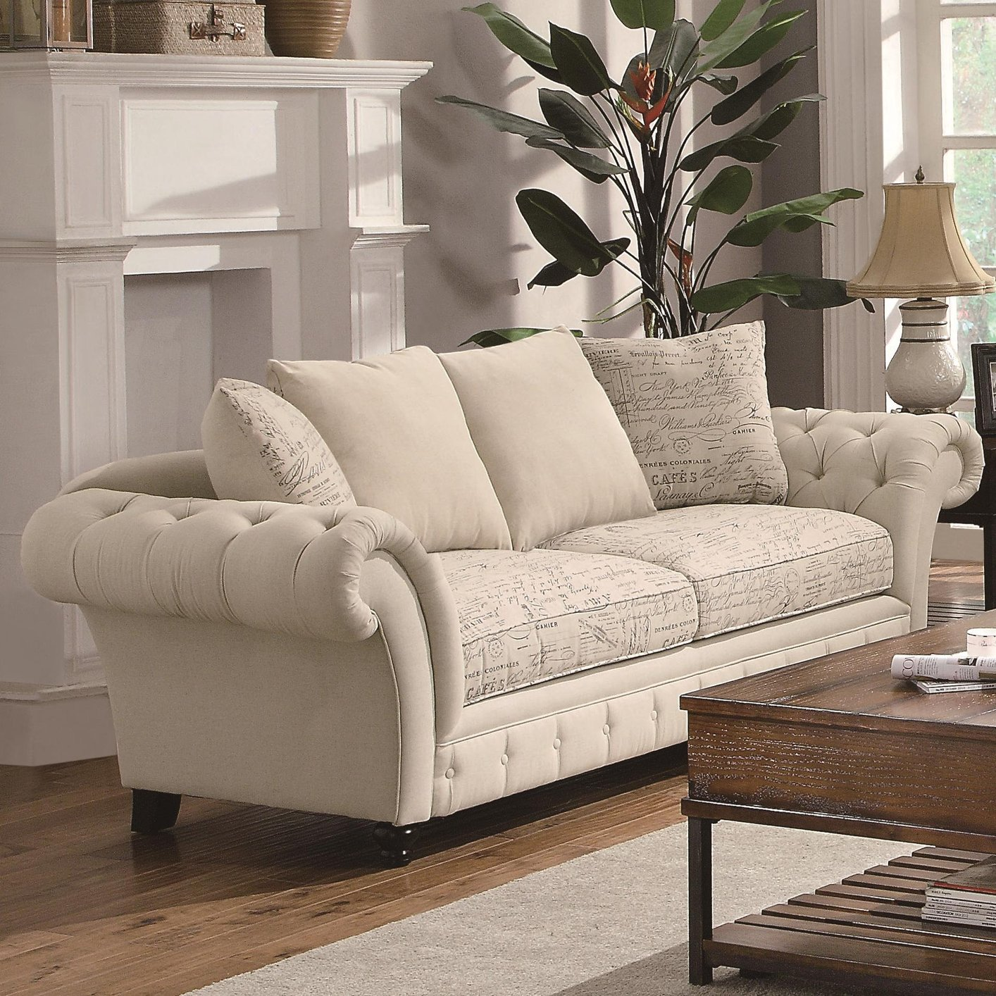 Delicieux Willow Beige Fabric Sofa