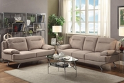 Beil Brown Fabric Sofa and Loveseat Set
