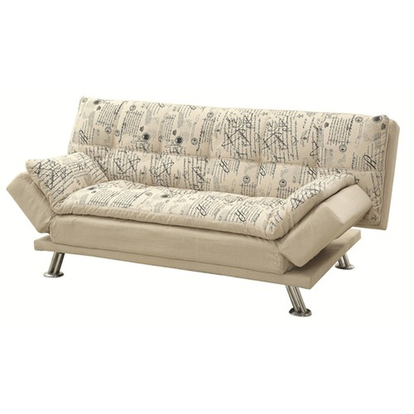 Coaster 300421 beige fabric sofa bed steal a sofa for Sofa bed los angeles