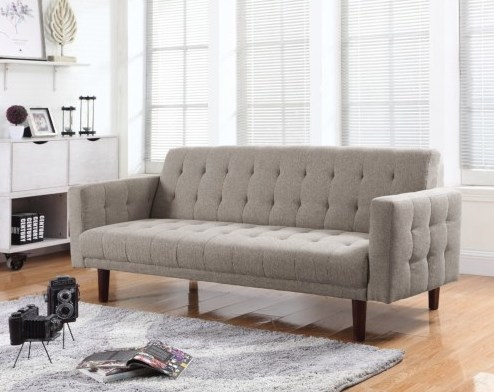 Beige fabric sofa bed steal a sofa furniture outlet los for Sofa bed los angeles