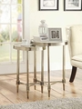 Clear Metal Nesting Table