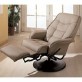 Beige Leather Reclining Chair