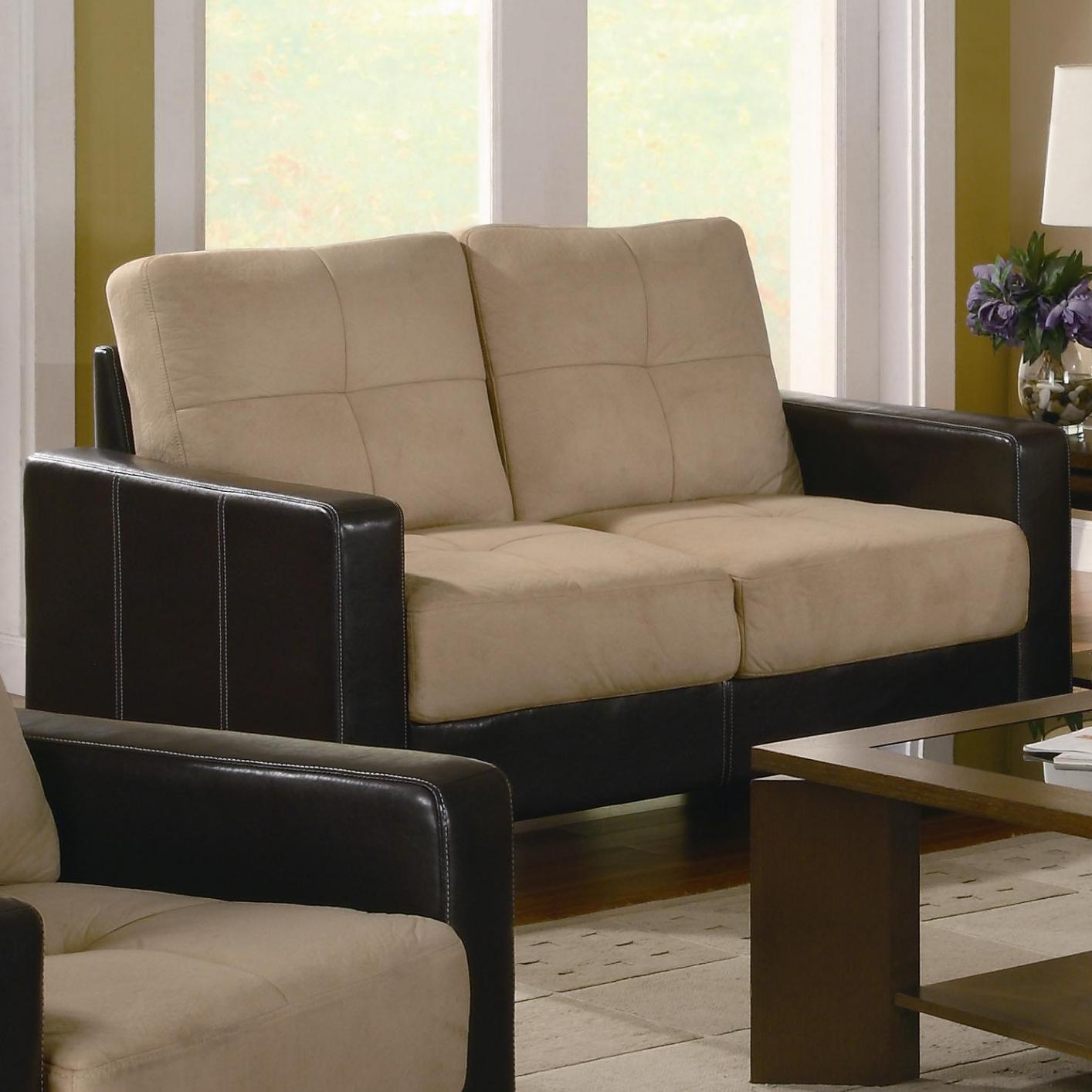Beige Leather Sofa Loveseat and Chair Set Steal A Sofa Furniture