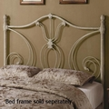 Beige Metal Headboard