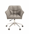 Beige Metal Office Chair
