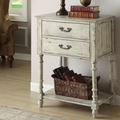 Beige Wood Accent Cabinet