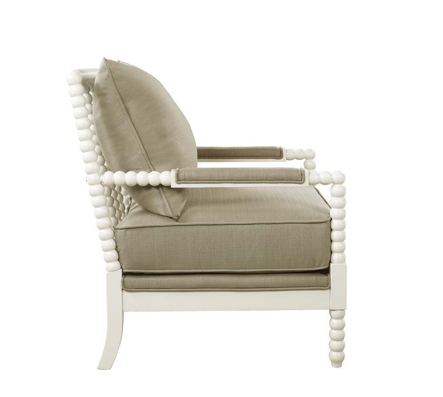 Beige wood accent chair steal a sofa furniture outlet for Furniture 90036