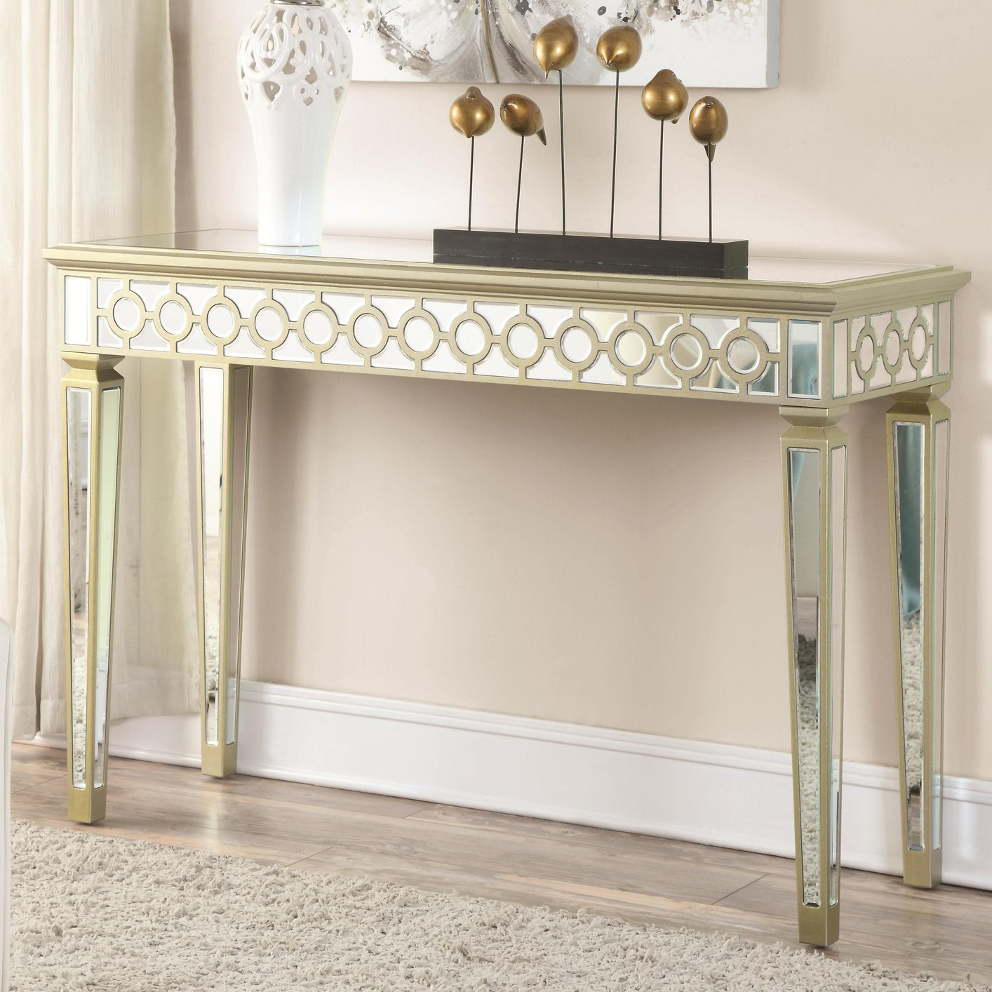 Beige Wood Console Table Steal A Sofa Furniture Outlet