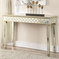 Beige Wood Console Table