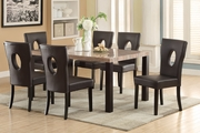 Beige Wood Dining Table and Chair Set