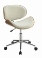 Beige Wood Office Chair