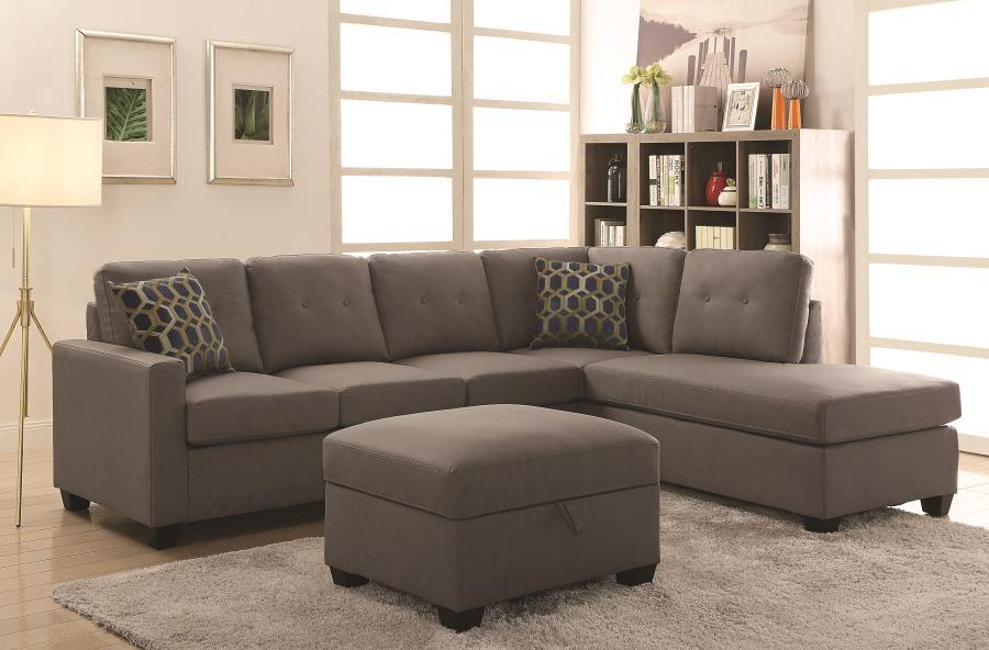 ... Beige Wood Sectional Sofa ... : wood sectional - Sectionals, Sofas & Couches