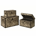 Beige Wood Storage Trunk