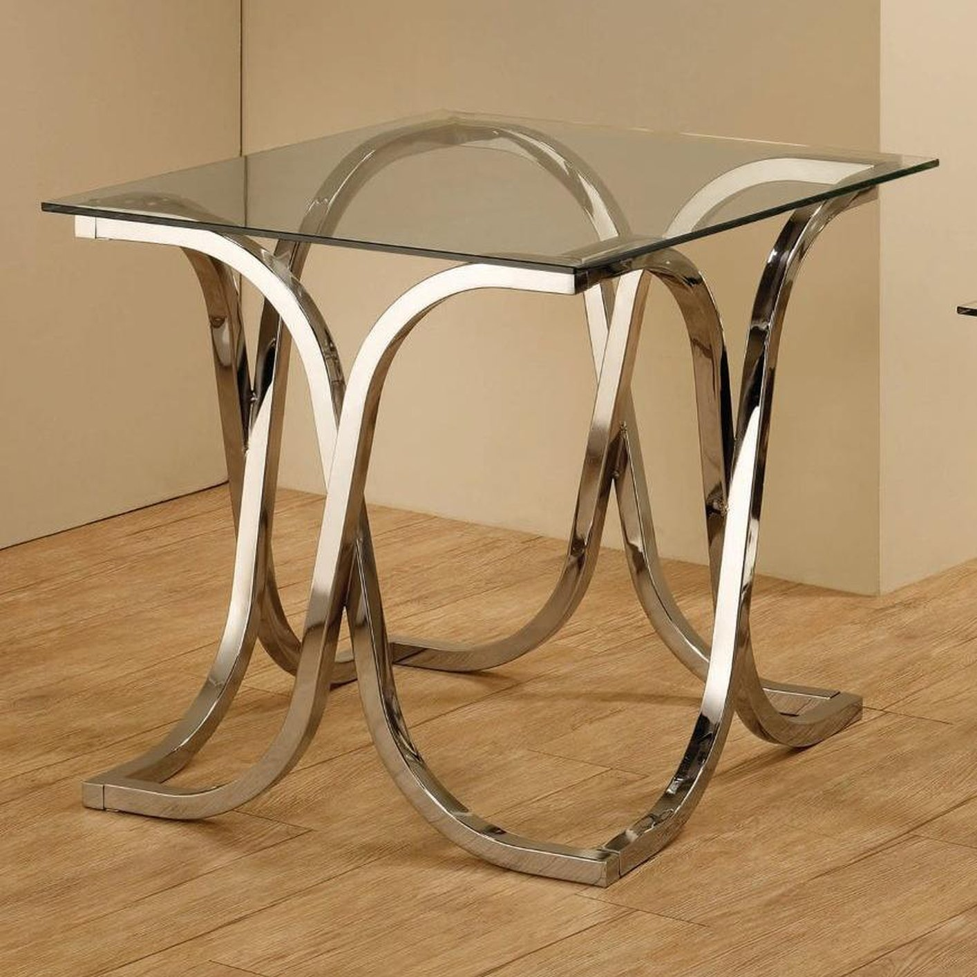 Silver Metal End Table Steal A Sofa Furniture Outlet Los Angeles Ca