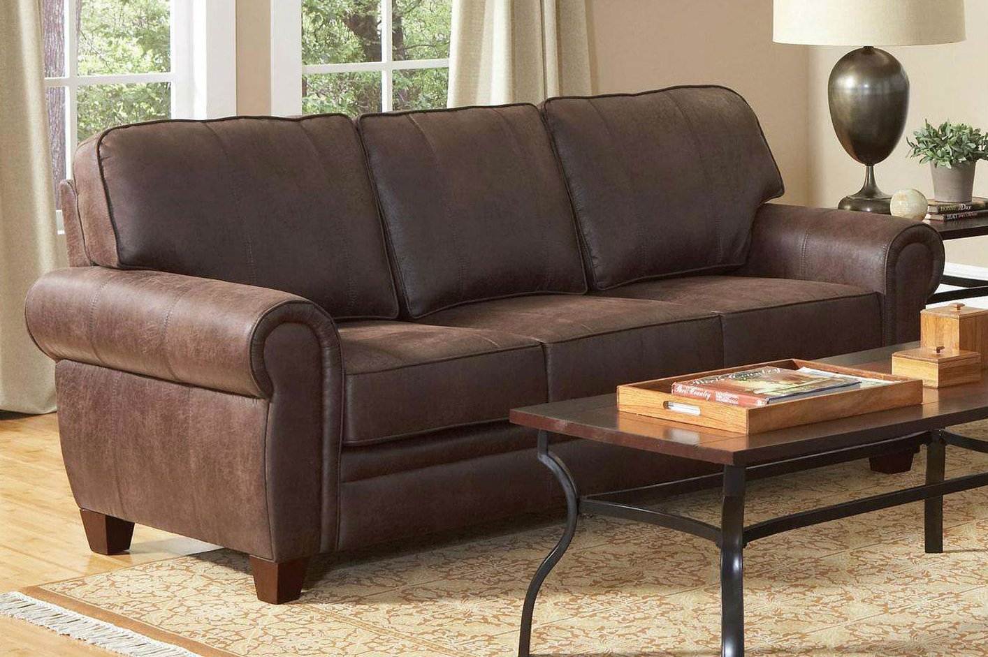 Coaster Bentley 504201 Brown Fabric Sofa Steal A Sofa Furniture Outlet Los Angeles Ca