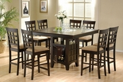 Bernt Rich Dark Cappuccino Wood Counter Height Dining Set