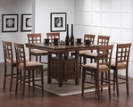 Bernt Wheat Warm Walnut Wood Pub Table Set