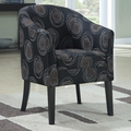 Silver Fabric Accent Chair
