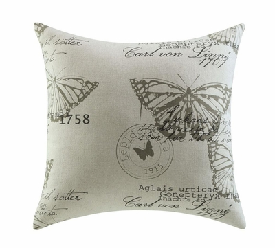 White fabric accent pillow steal a sofa furniture outlet - Fabric for throw pillows ...