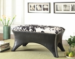 Black Fabric Bench