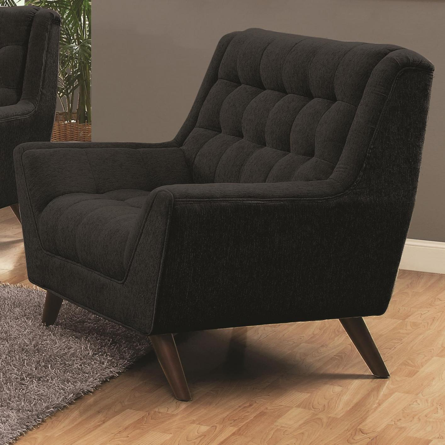 Natalia Black Fabric Chair - Steal-A-Sofa Furniture Outlet Los ...