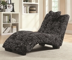 Black Fabric Chaise Lounge