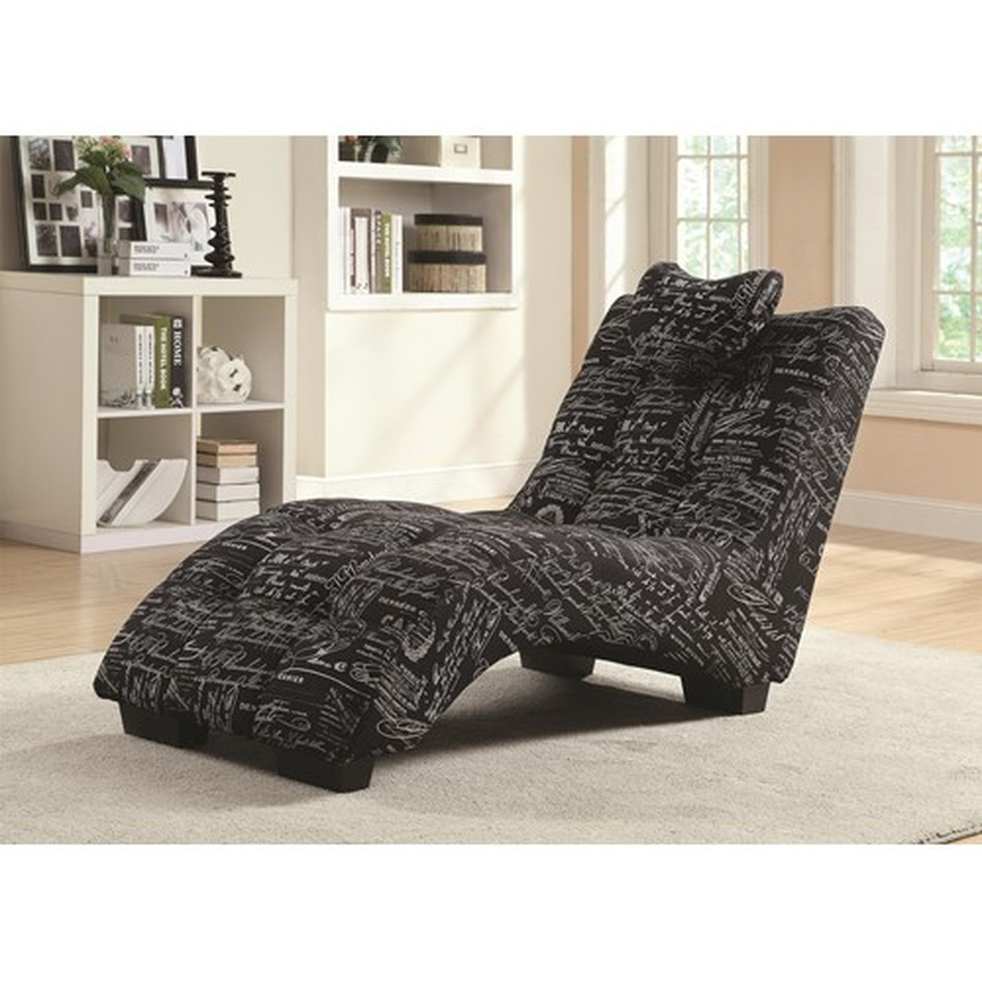 Black Fabric Chaise Lounge Black Fabric Chaise Lounge ...  sc 1 st  Steal-A-Sofa Furniture Outlet : fabric chaise lounge - Sectionals, Sofas & Couches