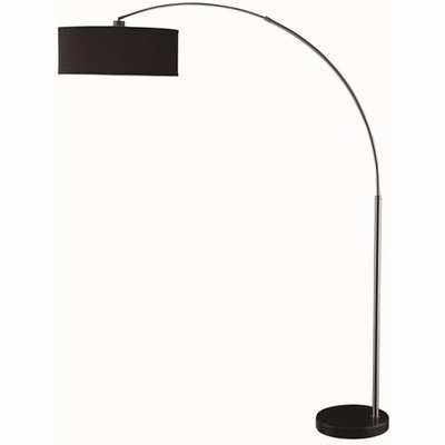 Black Fabric Floor Lamp