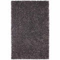 Black Fabric Floor Rug