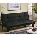 Black Fabric Sofa Bed