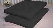 Black Fabric Futon Pad
