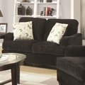 Yasmine Black Fabric Loveseat