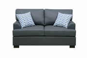 Camille Black Wood Loveseat
