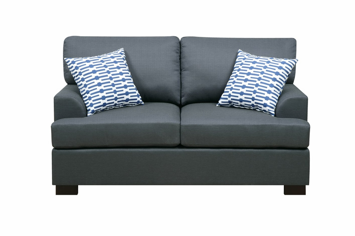 Poundex Camille F7991 Black Fabric Loveseat Steal A Sofa Furniture Outlet Los Angeles Ca
