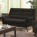 Natalia Black Fabric Loveseat