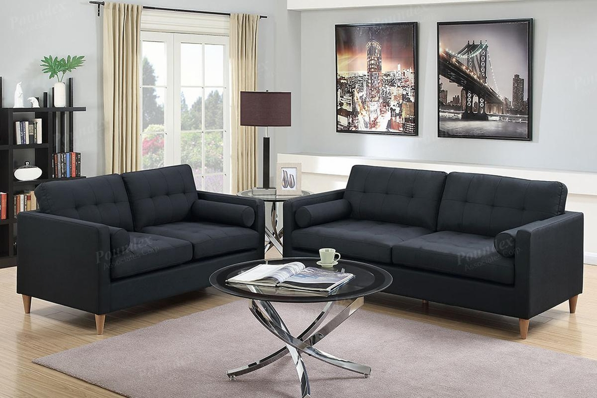 Black Fabric Sofa and Loveseat Set - Steal-A-Sofa ...