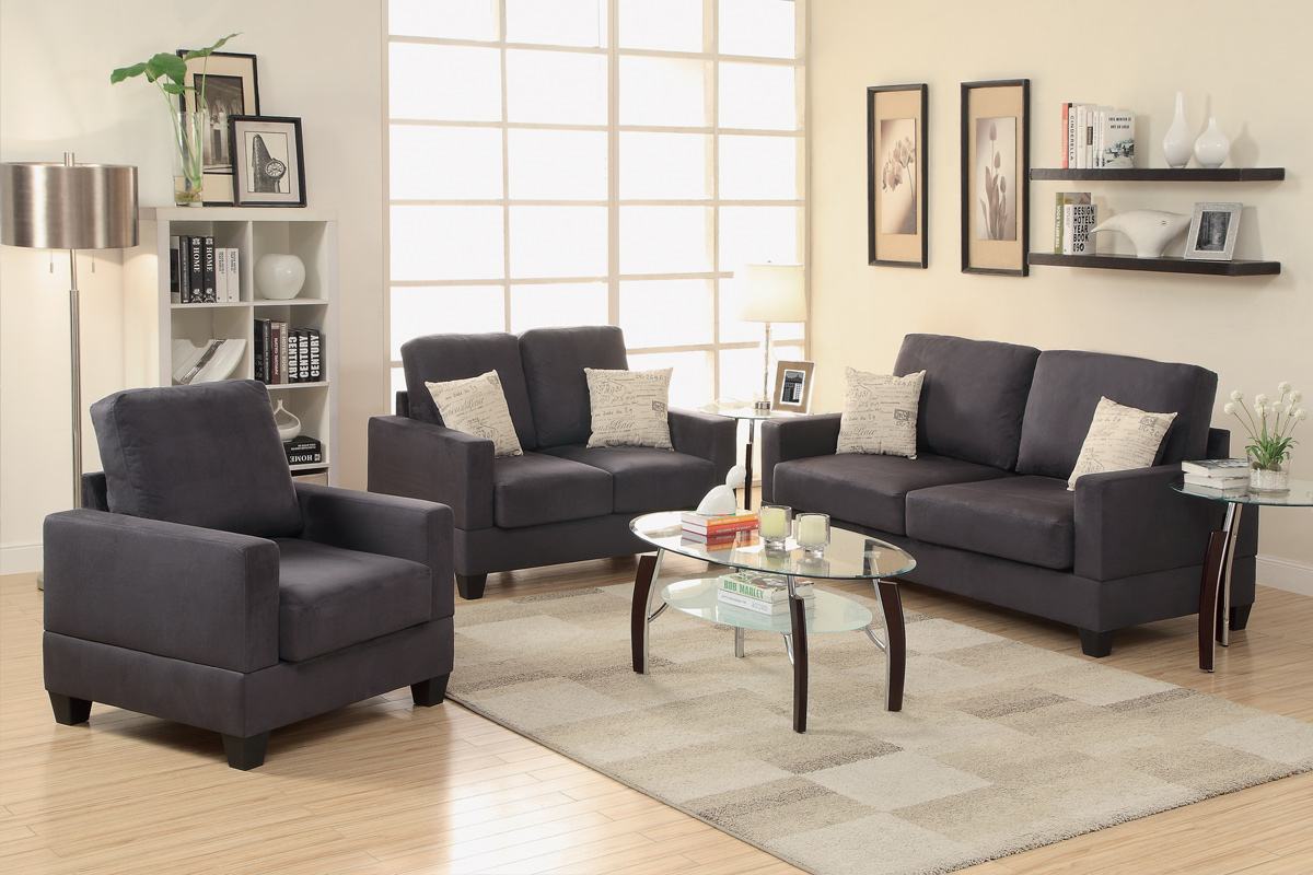 Grey Fabric Sofa Loveseat And Chair Set Steal A Sofa Furniture Outlet Los Angeles Ca