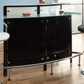 Black Glass Bar Table