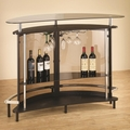 Black Glass Bar Unit