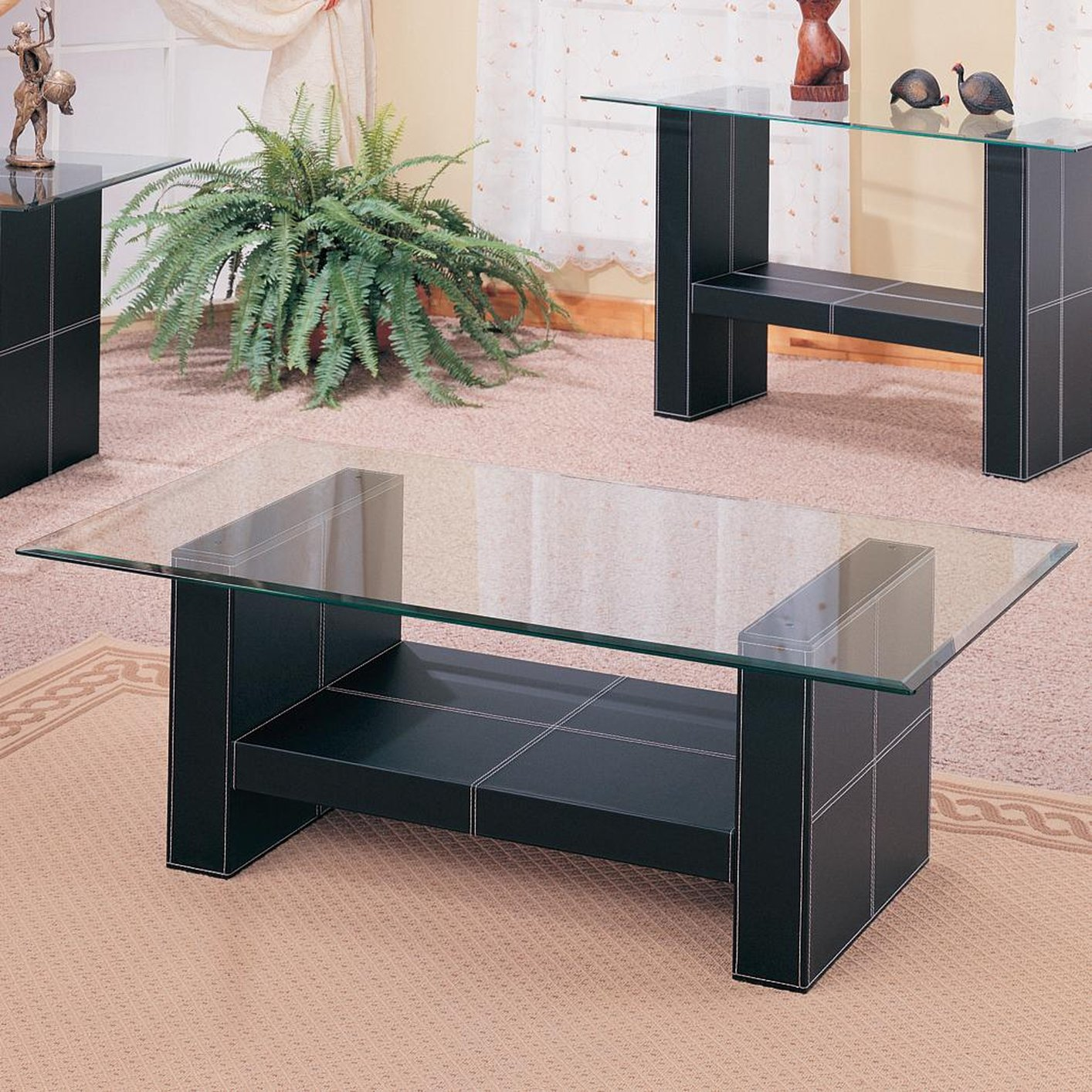 Black Glass Coffee Table Steal A Sofa Furniture Outlet Los