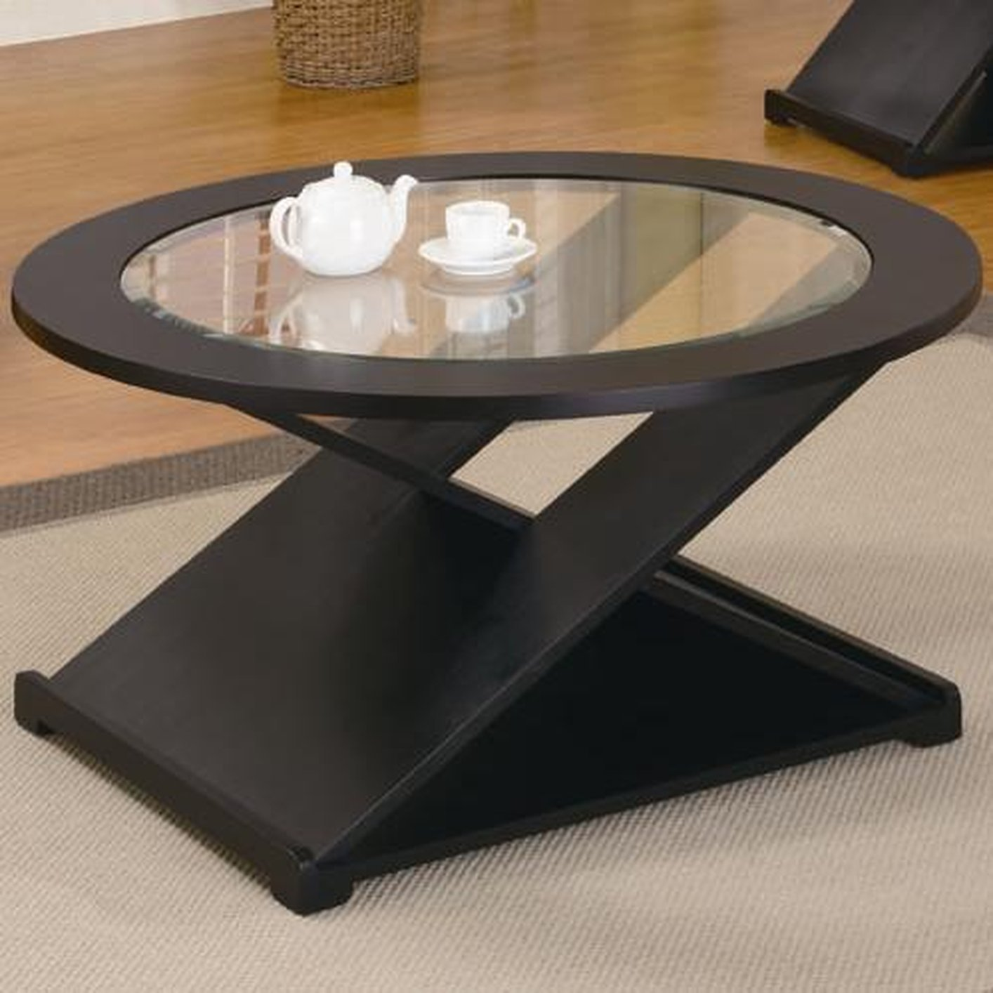 Coaster 701501 black glass coffee table set steal a sofa furniture outlet los angeles ca Glass coffee table set