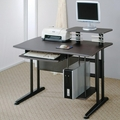 Black Glass Computer Desk
