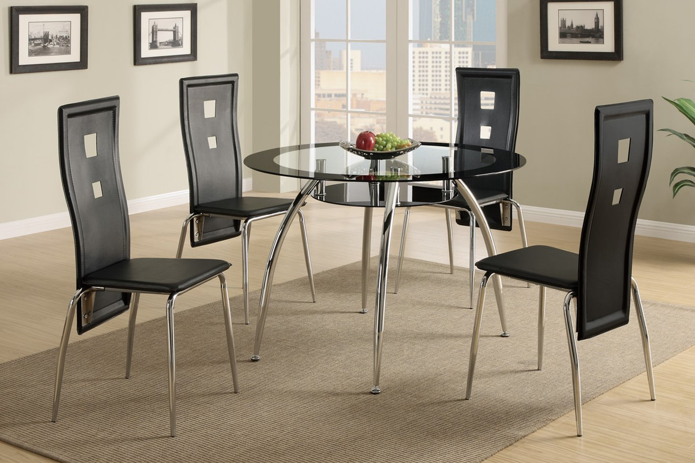 ... Black Glass Dining Table ...
